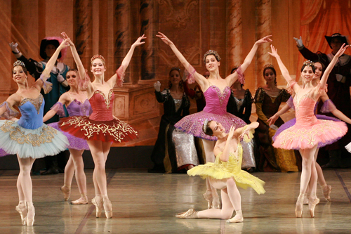 Photo of dancers in the Russian National Ballet.