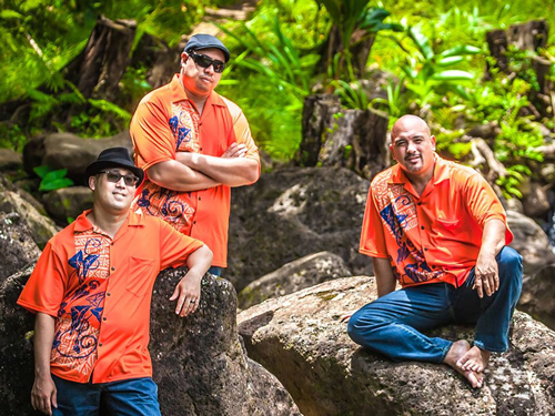 Photo of Waipuna, a group comprised of three performers