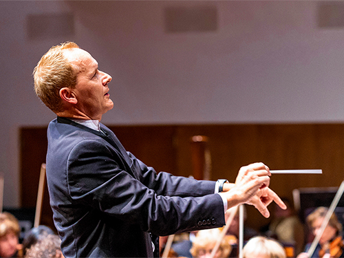 Promotional photo for the San Luis Obispo Symphony performing American Classics.