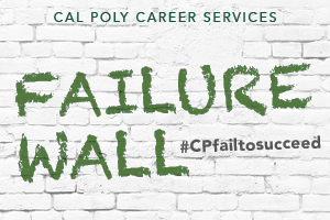 Cal Poly Career Services Failure Wall graphic