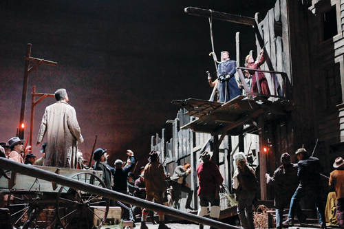 Photo from the Metropolitan Opera's La Fanciulla del West