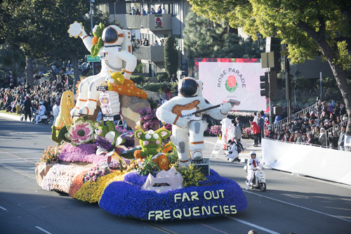 Cal Poly Universities float in the 2019 Rose Parade