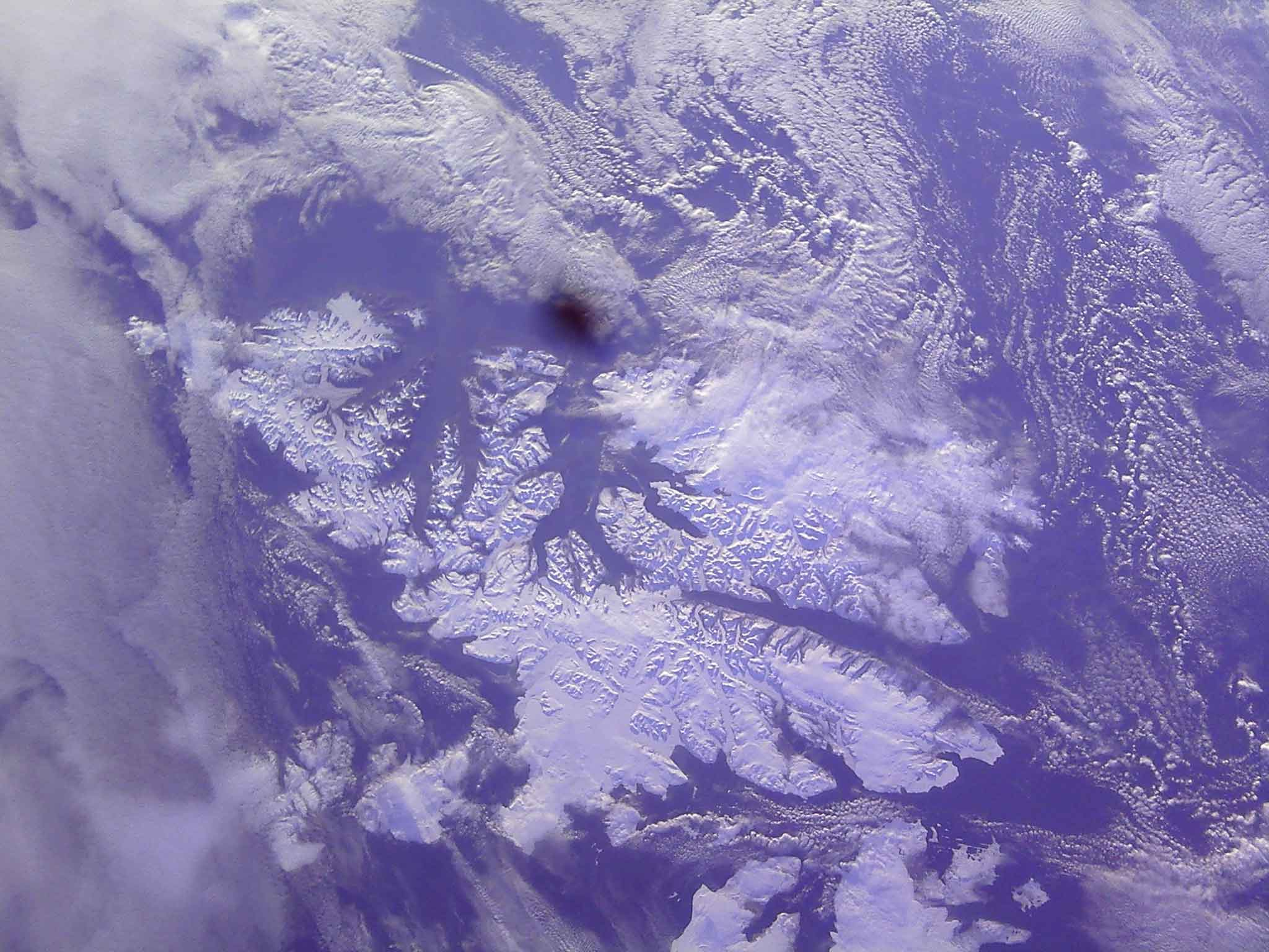 The photo, taken just hours after the launch, shows Svalbard, the Norwegian archipelago located between Norway and the North Pole.