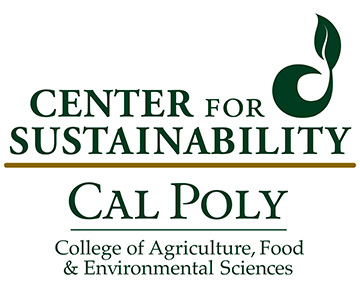 Logo for the Center for Sustainability at Cal Poly, College of Agriculture, Food and Environmental Sciences