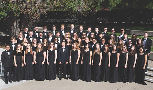 Members of the Cal Poly Choirs are shown in a group photo.