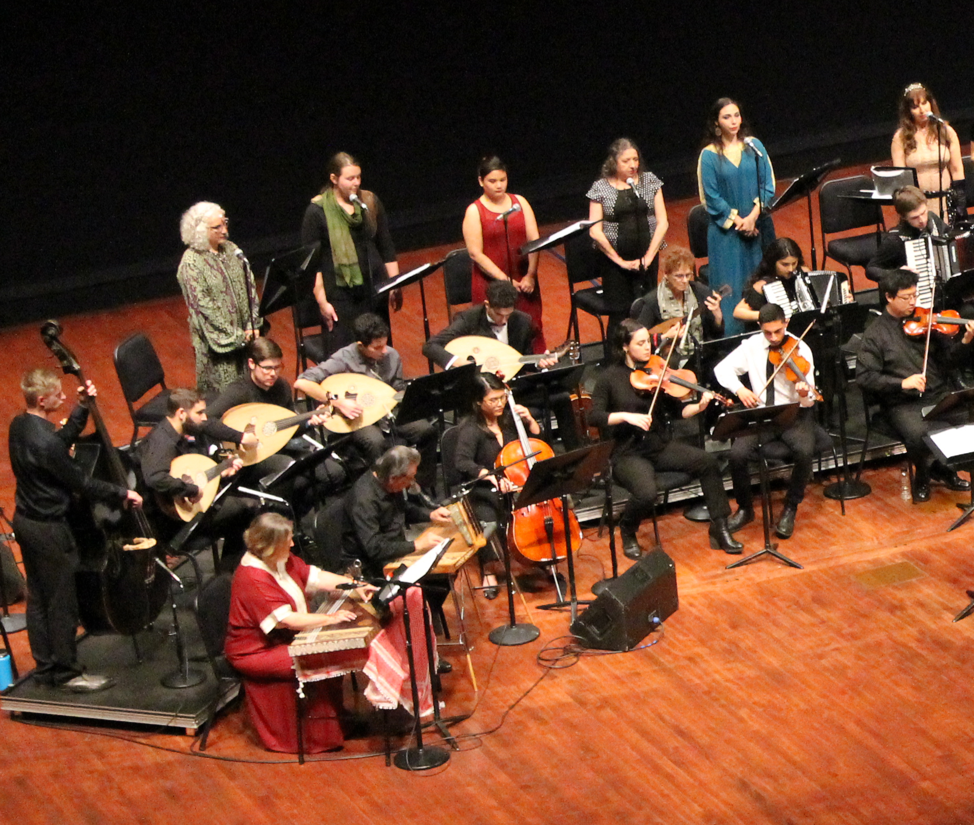 Photo of members of the Arab Music Ensemble from a previous performance.
