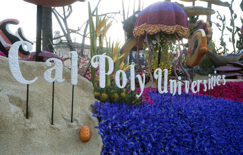 Cal Poly Universities name on float