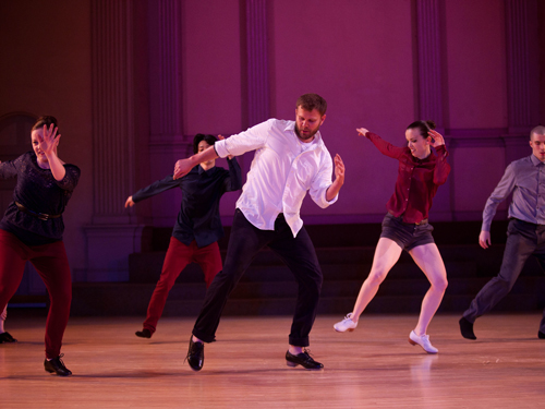 Promotional photo of Dorrance Dance tap company.