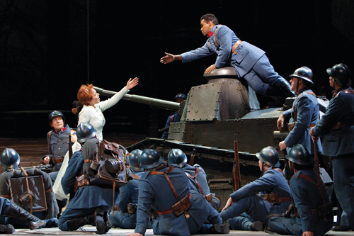 "Photo from the Metropolitan Opera's ""La Fille du Regiment"""