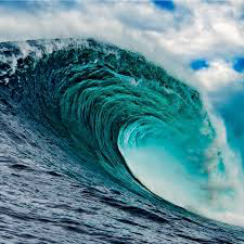 Photo of a wave.