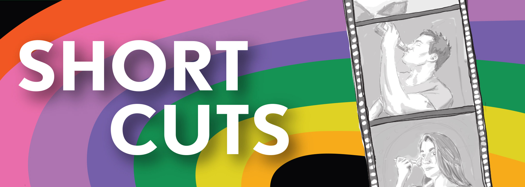 "Graphic from a poster advertising ""Short Cuts"""