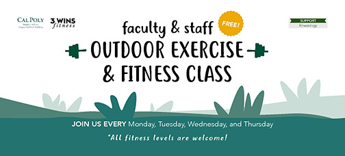 3WINS outdoor exercise classes for faculty and staff