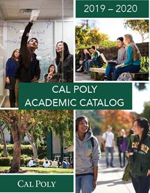 Screenshot of the cover the 2019-20 Cal Poly Academic Catalog