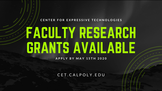 Graphic reading Center for Expressive Technologies Faculty Research Grants Available