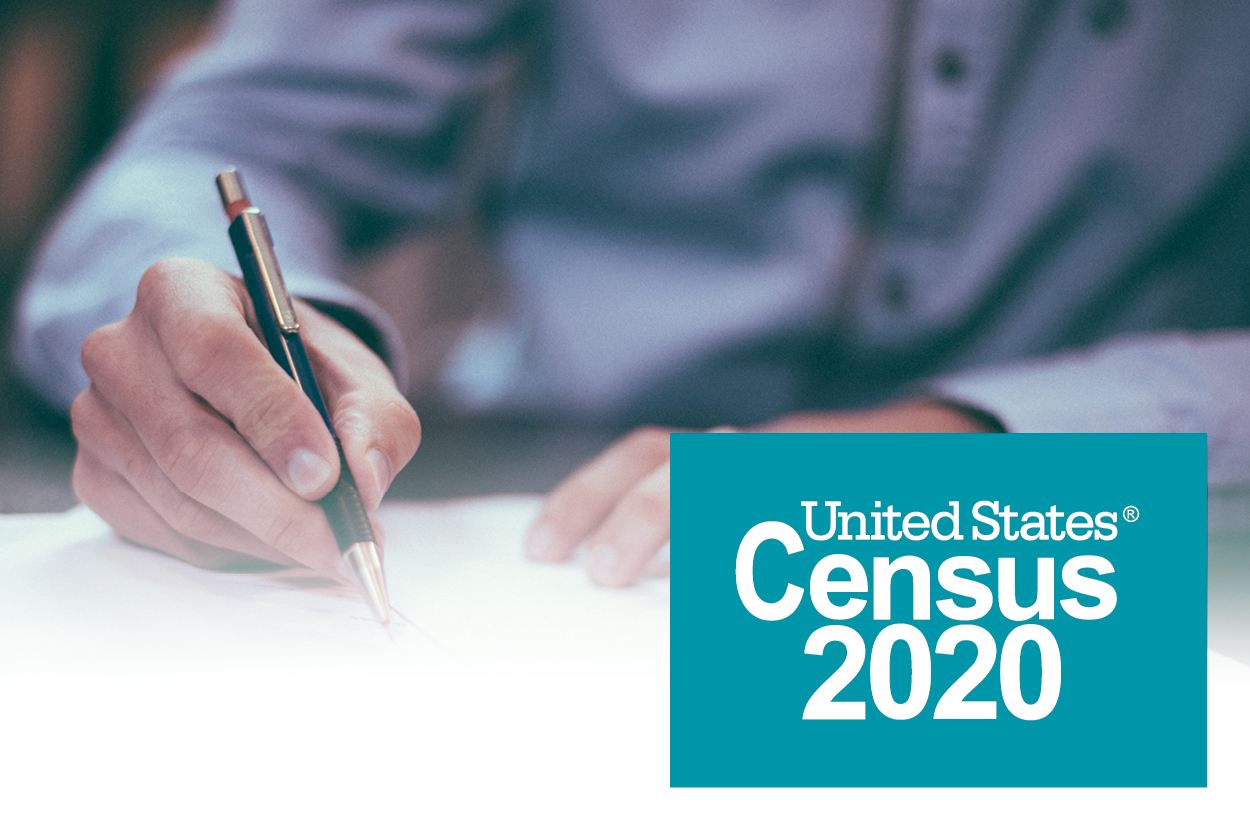 Photo reading U.S. Census 2020