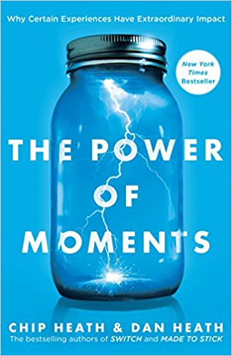Screenshot of the book cover of The Power of Moments