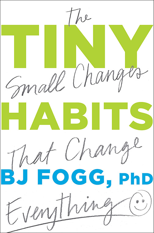 Book cover reading The Small Changes that Change Tiny Habits