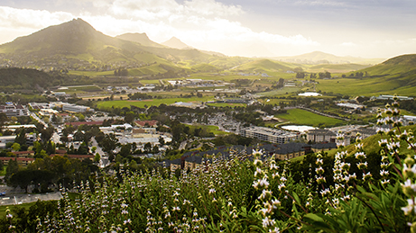 Arial view of Cal Poly campus.