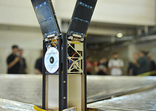Photo of the LightSail 2 CubeSat