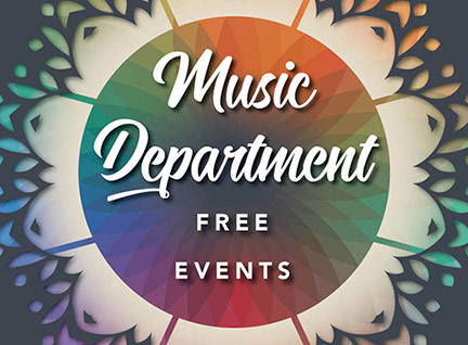 Graphic reading Music Department Free Events