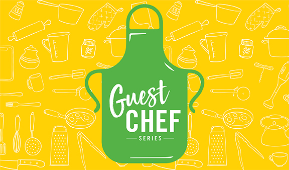 Graphic illustration for Guest Chef week