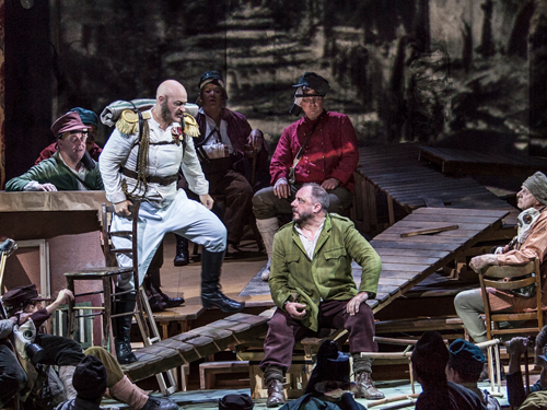Photo from a scene in the Metropolitan Opera's Wozzeck