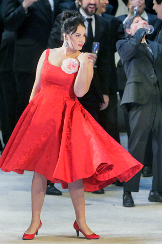 Photo from the Metropolitan Opera's La Traviata