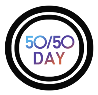 Graphic reading 50/50 Day