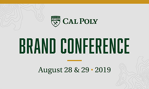 Graphic for the University Marketing Brand Conference with the dates August 28 & 29