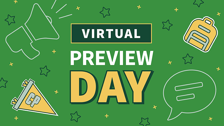 Graphic reading Virtual Preview Day