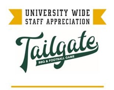 Graphic reading Universitywide Staff Appreciation Tailgate