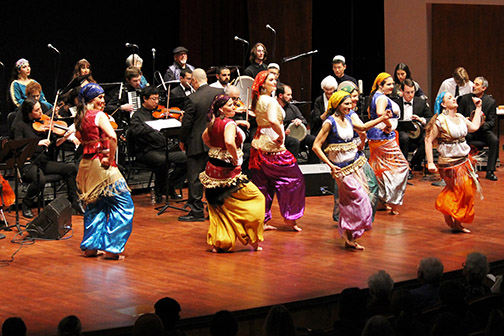 Members of the Arab Music Ensemble performing.