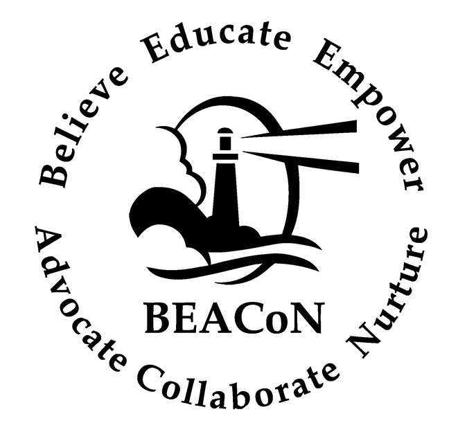 Beacon logo reading Believe Educate Empower Advocate Collaborate Nurture