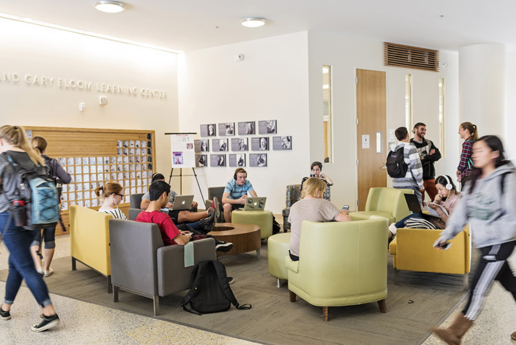 The Baker Center provides study space for up to 400 students and has become a social hub on the Cal Poly campus.