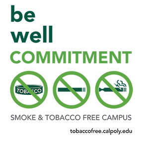Be Well campaign for a smoke and tobacco free campus.