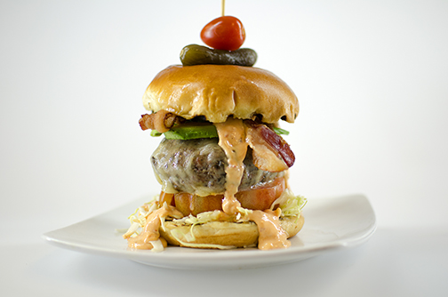 Photo of Campus Dining's Blended Burger.