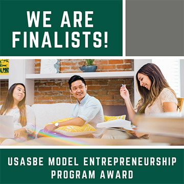 CIE is finalists for the USASBE Model Entrepreneurship Program Award