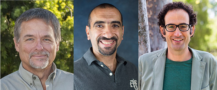CIE Faculty Fellows, pictured from left to right, are Phil Barlow, Ahmed Deif and Stern Neill