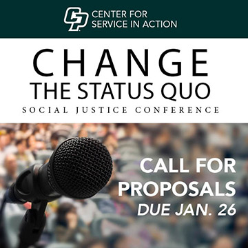 Change the Status Quo Social Justice Conference logo