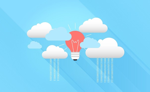 Graphic of clouds and lightbulb.