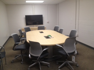 Photo of a conference room in the Graphic Arts building on campus.