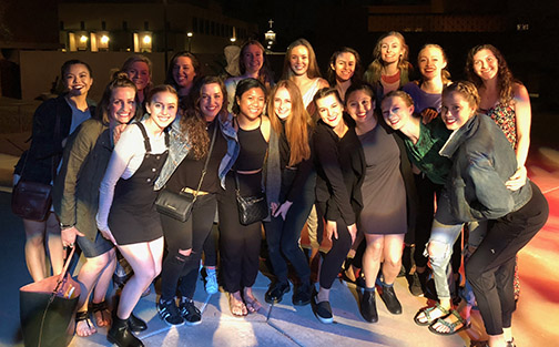 Cal Poly students pictured at the American College Dance Association regional conference.