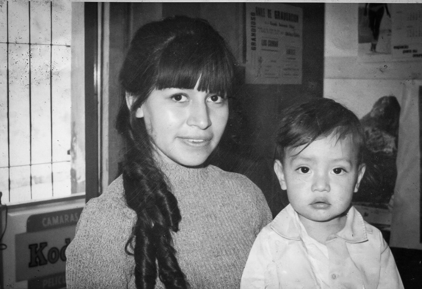 Enrique Diaz, with his mother Dolores. Dolores brought her 2-year-old son to America in 1972.