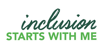 Inclusion starts with me logo.