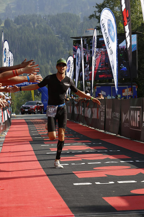 Mechanical engineering student Mark Schefter finished first in his age group at Ironman Canada.