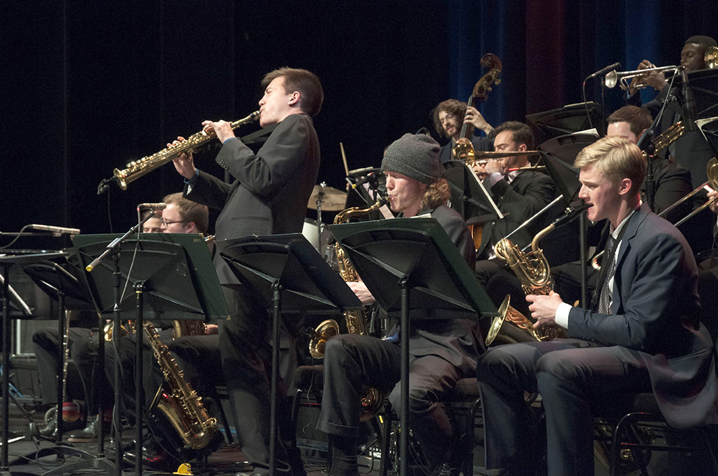 University Jazz Bands I performs at a previous concert.