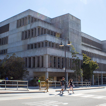 Photo of the exterior of Robert E. Kennedy Library at Cal Poly.