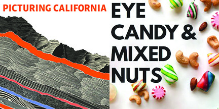 Library exhibits, including Picturing California and Eye Candy & Mixed Nuts, are on display at Kennedy Library starting Oct. 25