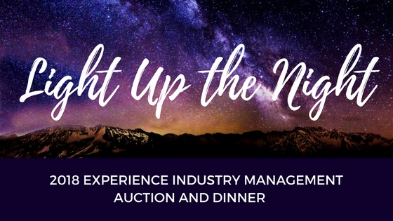 Light up the Night logo for the Experience Industry Management Department's 2018 auction and dinner