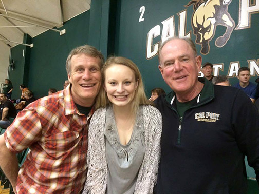 Cal Poly student Sara Hiner from Denver is pictured with her local sponsor, retired San Luis Obispo police Capt. Dan Blanke, right.
